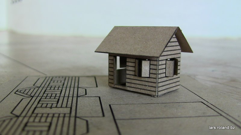 Image of laser cut cardboard house thingiverse for 15 metrotech center 7th floor brooklyn ny 11201