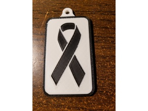 Cancer Keyfob - single and dual extrusion