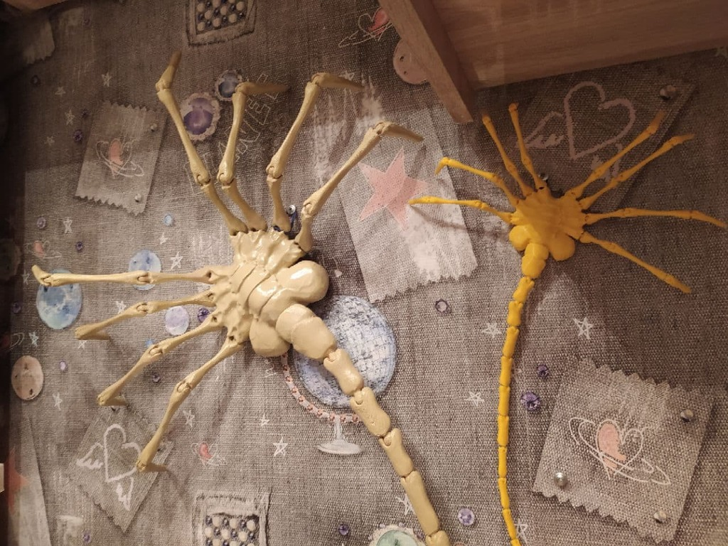 Facehugger (all separated parts)