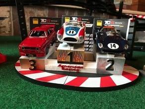 Slot car podium Carrera digital