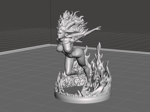 Fire Elemental Running