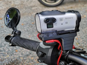 Sony action camera mount for gsxs1000f