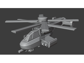 Spartan VTOL generic Sci Fi Helicopter