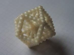 Octet Truss Node Environment (from rhombic dodechedrons)