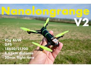 Nanolongrange V2 GPS FPV drone with single 18650