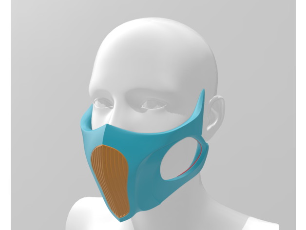 Respirator Breathing Mask With Hepa Filter By Mon Thingiverse