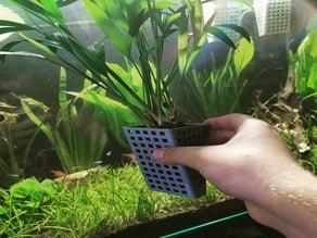 Planter box for aquarium