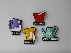 Household chores planning magnets