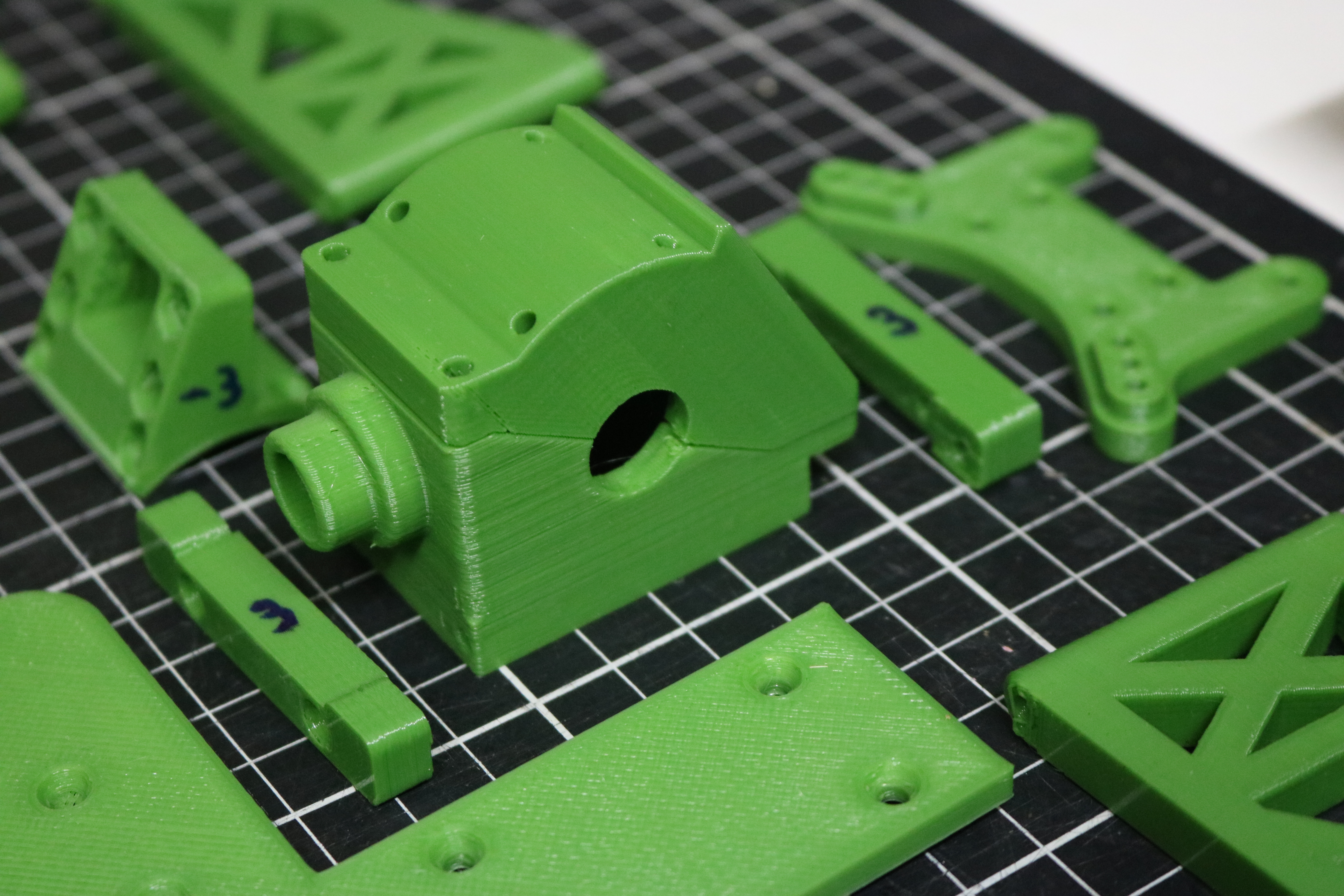 rear frdiff parts printed