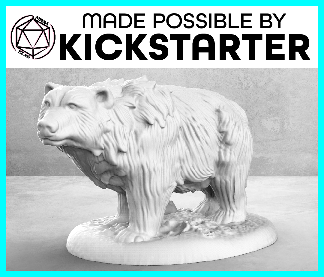Bear - Casual Pose - Tabletop Miniature