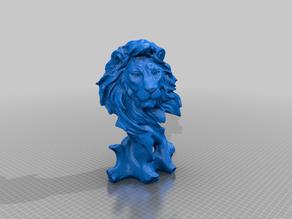 Lion on a Wood (Simba) (fix top and bottom)