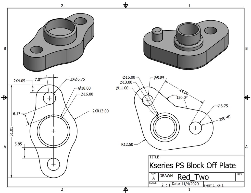 KSeries PS Delete/Block Off Plates