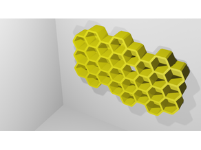 Honeycomb wall-mounted storage box