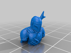 The Mandalorian Low Poly Bust