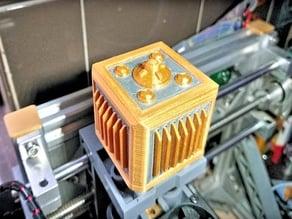 Industrial/steampunk stepper motor cover for CNC or 3D printer (NEMA17 motor)