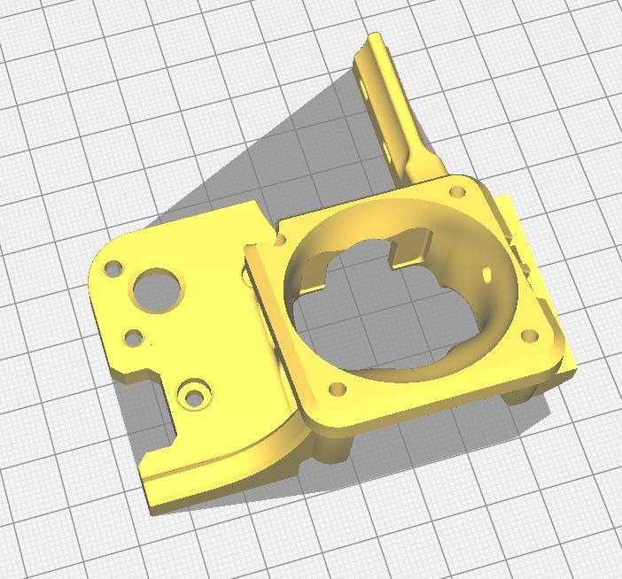 Creality Stock Hotend Mount - Mod for Ender 5