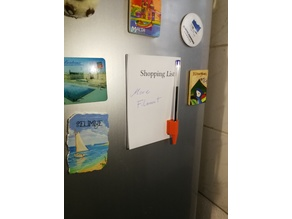 Magnetic fridge pen and paper holder (customizable)
