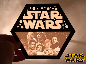 Logo STAR WARS lithophane