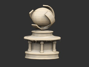 Frozen Globe Sculpture x2