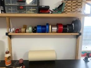 IKEA Svalnas Shelf Brackets (for tape roll storage and organizing)