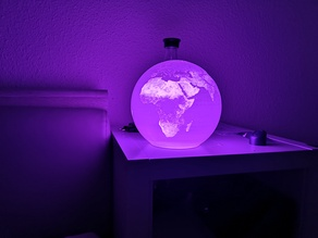 Lithophane - World Map (Ender3 maximum dimensions)