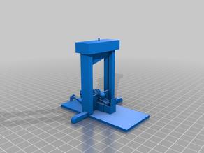 Skeleton on guillotine