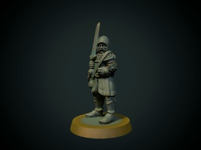 Yet another knight 28mm (supportless, FDM friendly)