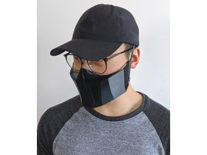 Face Mask Respirator with Filter Slots