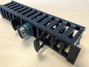 Raspberry Pi 4 2U rack-mount bracket