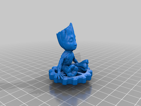 Groot chilling on extruder knob (ender 3/pro/s)