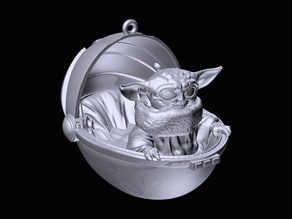 "Baby Yoda (A.K.A. ""The Child"") Christmas Ornament"