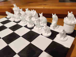 Pig themed Chess pieces