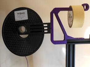 Ender 3 Filament Spool and Tape Holder Bracket.