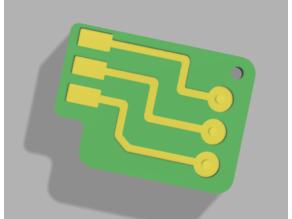 Factorio circuit keychain