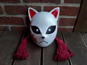 Sabito's Fox Mask from Kimetsu no Yaiba