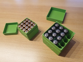 Simple AAA battery storage box