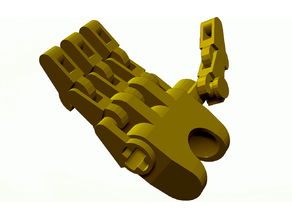 Repaired Bionicle articulated hands