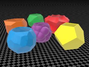 Random polyhedron planters