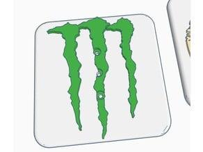 Modular trailer hitch Faceplate -  Monster Logo