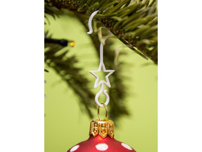 Decorative christmas tree bauble hooks