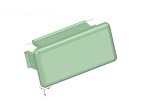 rectangular/square pipe/tube plug/endcap (20 x 40)(40 x 40)
