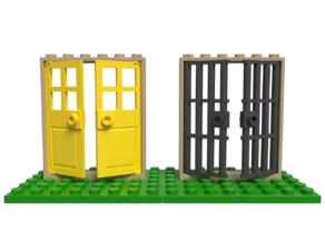 Lego compatible double doors