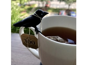 Crow friend for your cup