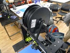 Large filament spool coupler