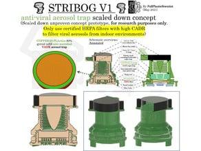 STRIBOG anti-viral aerosol trap concept prototype