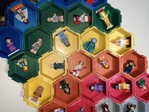 Modular Hexagonal Dovetail display box compatible with LEGO®  minifigures