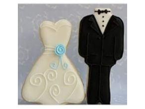 wedding tux/dress cookie cutters