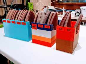 Box für Schleifpads Deltaschleifer - Storage for Delta Sand Paper