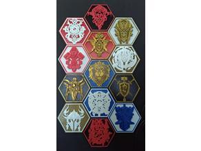 World of Warcraft Hex Mural ( Alliance  Races Crest )