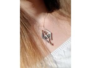 Skyrim logo necklace